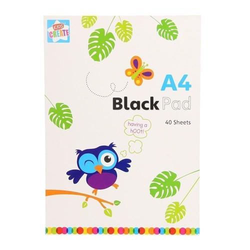Image of Tegne blok med sorte sider