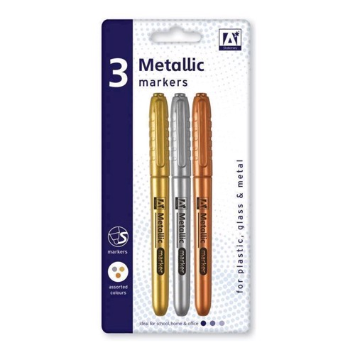 Image of Metallik farver, 3 stk