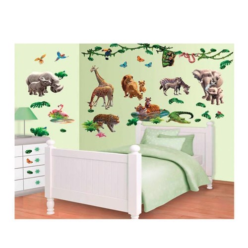 Image of   Walltastic Wall stickers Wild Animals