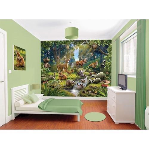 Image of   Walltastic Poster Wallpaper/wallsticker Animal Forest