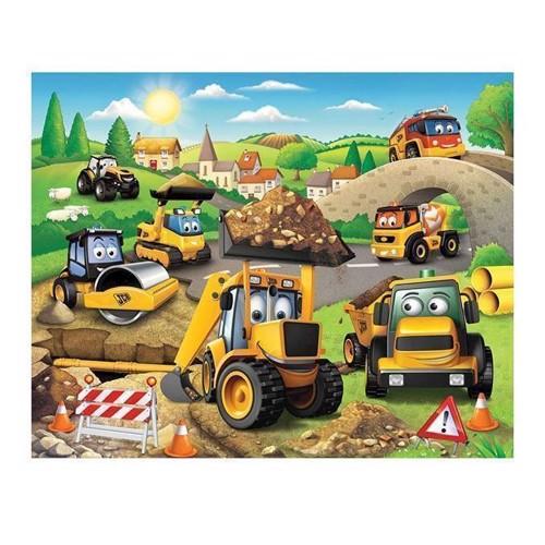 Image of   Walltastic Wallpaper Poster Work Vehicles