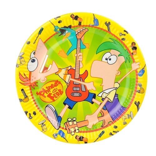 Phineas & Ferb Tallerkener, 10 stk.