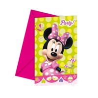 Minnie Mouse invitationer 6 stk