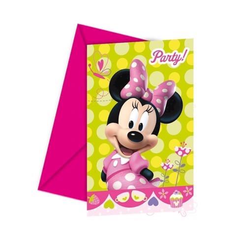 Image of Minnie Mouse invitationer 6 stk