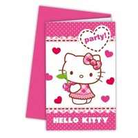 Hello Kitty Invitationer, 6 stk