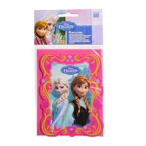 Disney, Frozen/Frost - Invitationer, 6 stk