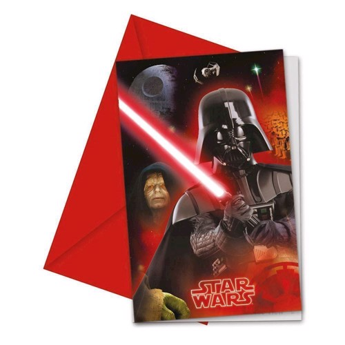 Image of Star Wars invitations, 6pcs.