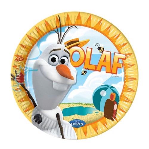 Image of   Disney, Frozen/Frost - Olaf Tallerkener, 8 stk.