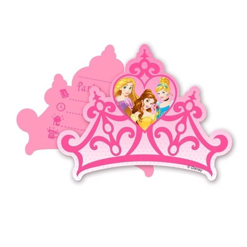 Image of   Disney Princess invitations, 6pcs.