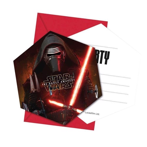 Image of Star Wars fest invitationer 6 stk