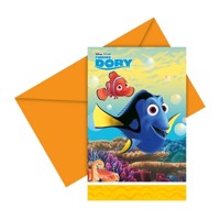 Finding Dory invitations, 6pcs.