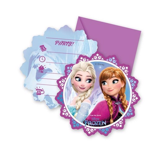 Image of Invitation Disney Frozen, 6pcs.