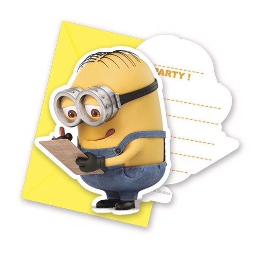 Image of Minions invitations, 6pcs.