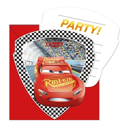 Image of   Cars 3, invitationer, 6 stk.