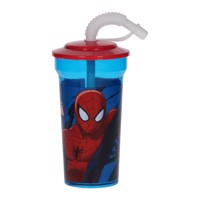 Spiderman Cup with Straw