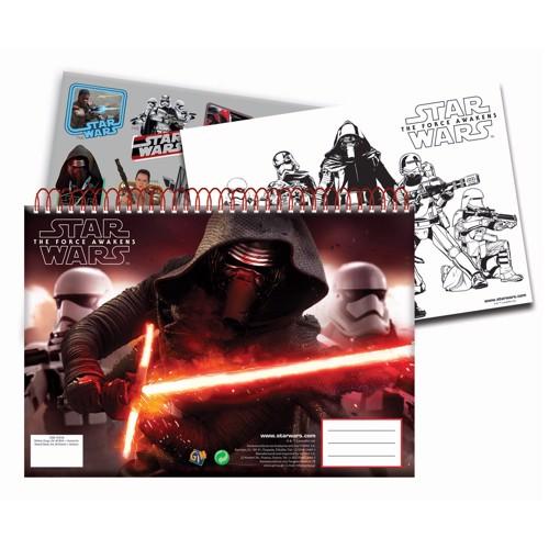 Image of   Star Wars Notesblok/tegneblok A4 med klistermærker