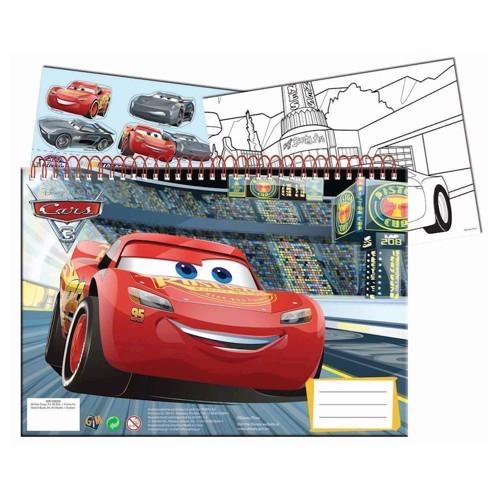 Image of   Cars 3 skitsebog A4 med klistermærker