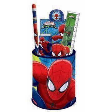 Image of   Spiderman skrivesæt, 6 dele