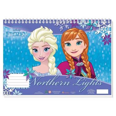 Image of   Disney, Frozen/Frost - Notesbog med klistermærker