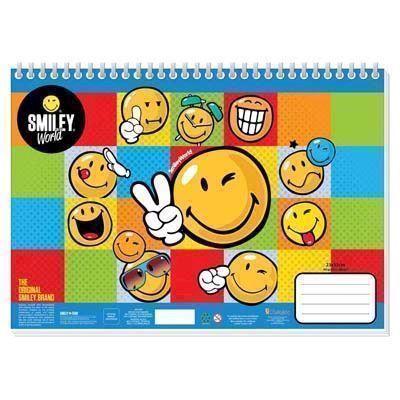 Image of   Smiley Sketchbook med klistermærker