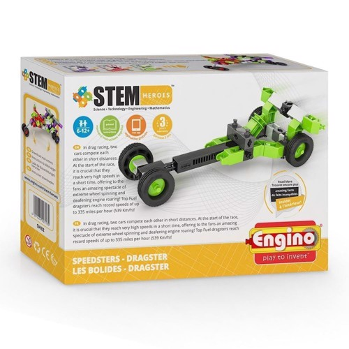 Image of Engino Stem Heroes, Dragster Speedster (5291664003185)