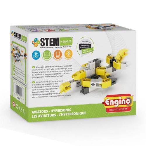 Image of Engino Stem Heroes, jet airliner (5291664003208)