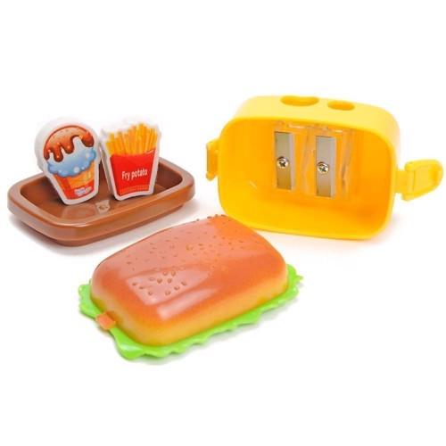 Image of   Viskelæder & Blyantspidser-Hamburger