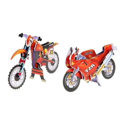 Image of   3D byggesæt motorcykel