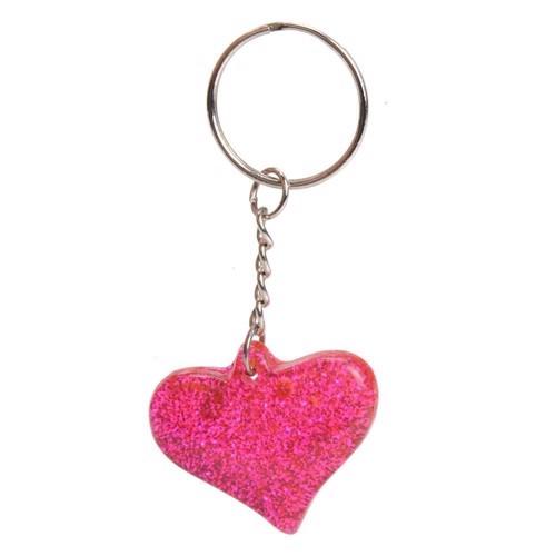 Nøglering - Glitter Heart