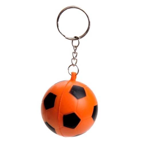 Nøglering-Orange Soft Fodbold