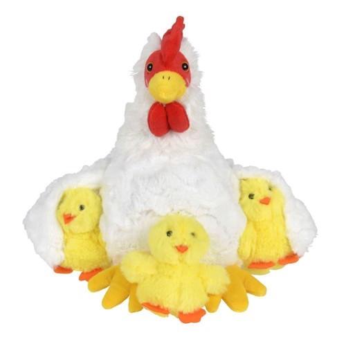 Image of   Bamse, høne med kyllinger
