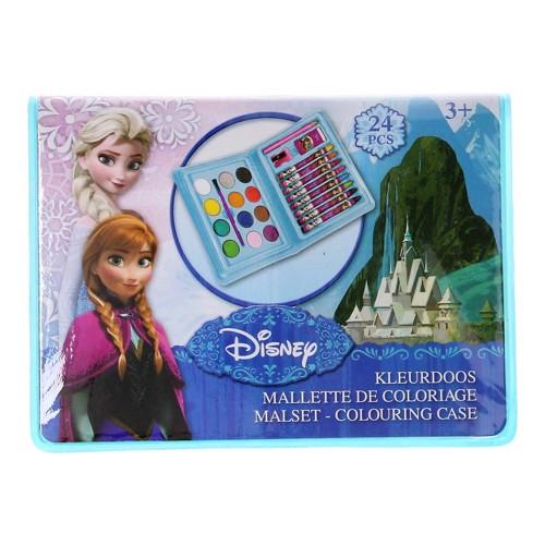 Image of   Disney, Frozen/Frost - Malesæt/tegnesæt, 24 dele