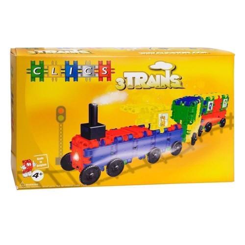Image of Clics tog byggesæt med tog og 2 vogne (5425002301118)