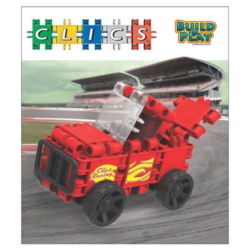 Image of Clics Build &Play - Red Racecar (5425002302795)