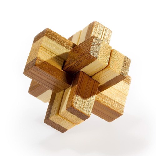 Image of   3D Bamboo Brain puzzle Knotty ***