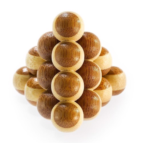 Image of   3D Bamboo Brain puzzle Cannon Balls *