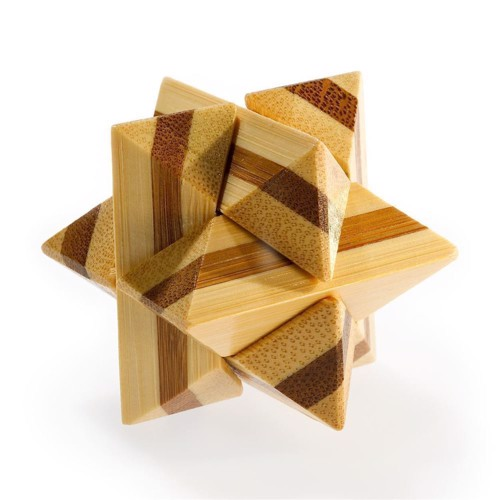 Image of 3D Bamboo Brain puzzle superstar **