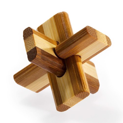 Image of 3D Bamboo Brain puzzle Double cross * *