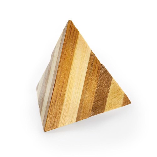 Image of 3D Bamboo Brain puzzle Pyramid *