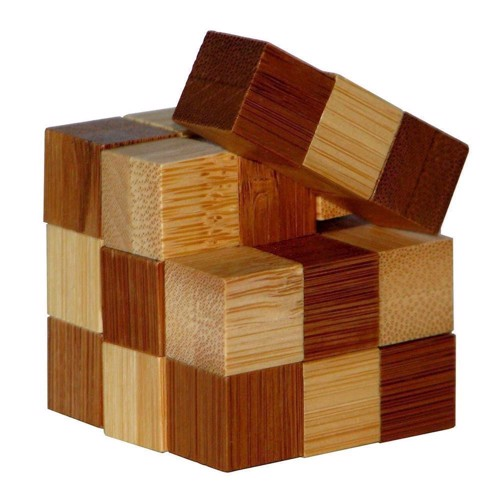 Image of   3D Bamboo Brain puzzle Snake Cubes **