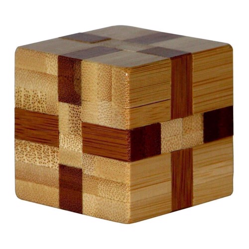Image of 3D Bamboo Brain puzzle Cube ***