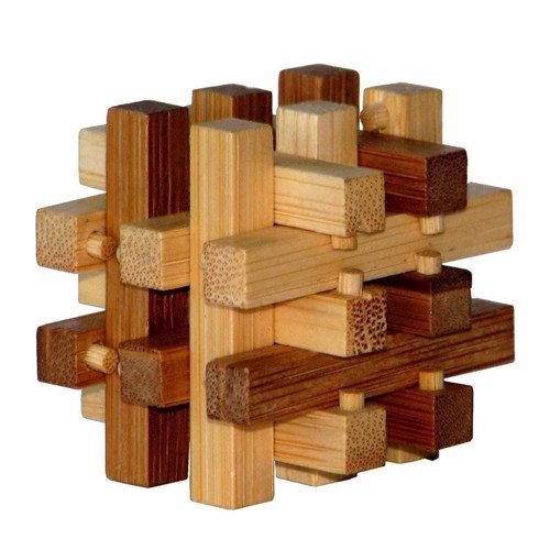 Image of   3D Bamboo Brain puzzle Slide ****