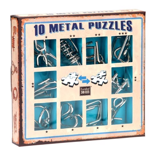 Image of   Breinpuzzelset blue, 10pcs.