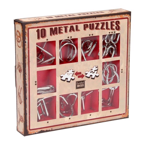 Image of   Breinpuzzelset red, 10pcs.