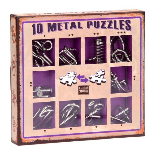Breinpuzzelset purple, 10pcs.