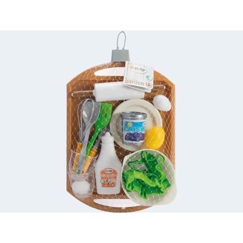 Image of   Green Garden bakke med legetøjs køkken ting 24 dele