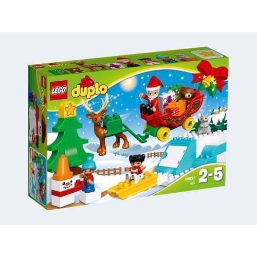 Image of   Lego Duplo 10837, vinter sjov med julemanden