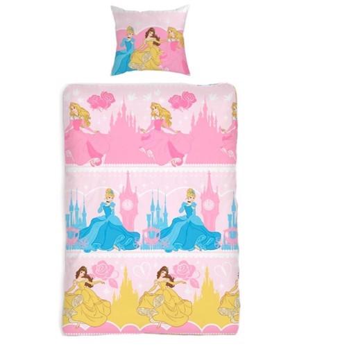 Image of Sengetøj med dansende Disney prinsesser