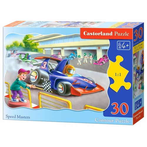 Image of   Puzzle Race Car, 30th.