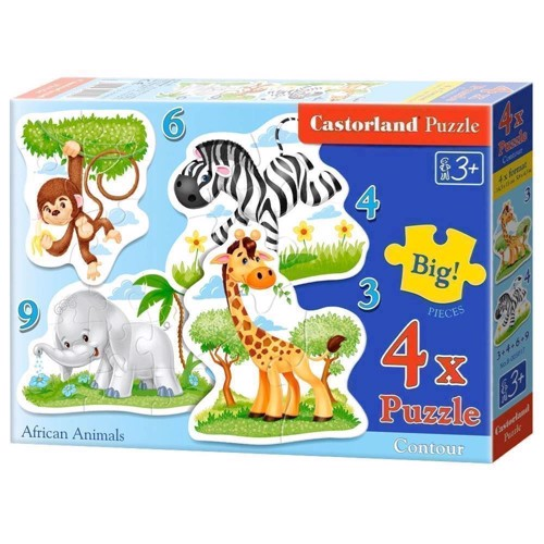 Image of   Puzzle African Animals, 4in1